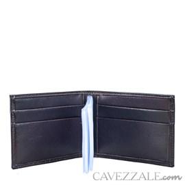 Carteira De Couro Masculina Média Cavezzale Café 056127