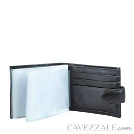 Carteira De Couro Masculina Média Cavezzale Café 056128