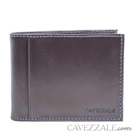 Carteira De Couro Masculina Média Cavezzale Café 099715