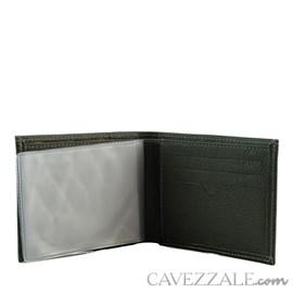 Carteira de Couro Masculina Média Cavezzale Cinza 099715