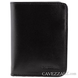 Carteira de Couro Masculina Média Cavezzale Preto 0101257
