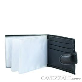 Carteira De Couro Masculina Média Cavezzale Preto 056128