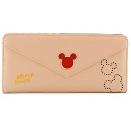 Carteira Sintético Mickey Mouse Bege 0100082