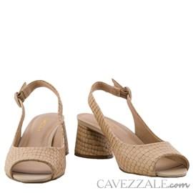 Chanel em Couro Petit Croco Cavezzale Areia 0101397
