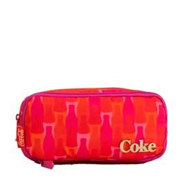 Estojo Escolar Duplo Pop Bottle Coca-cola Vermelho 097578