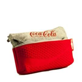 Estojo Escolar Sport Coca-cola Cinza-vermelho 097587