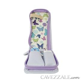 Estojo Higiene de Couro Feminino Cavezzale Lavanda 102592