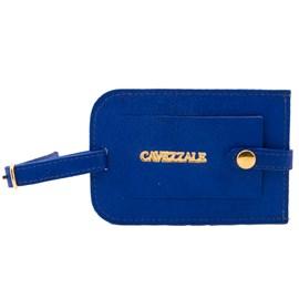 Identificador De Bagagem Cavezzale Em Couro Azul 098266