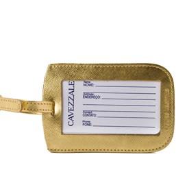 Identificador De Bagagem Cavezzale Em Couro Dourado 098265