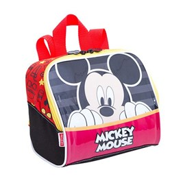 Lancheira Escolar Mickey Mouse 17y Preto-vermelho Poliéster 097512