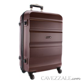 Mala de Bordo Cavezzale em ABS Amalfi Marrom 100831