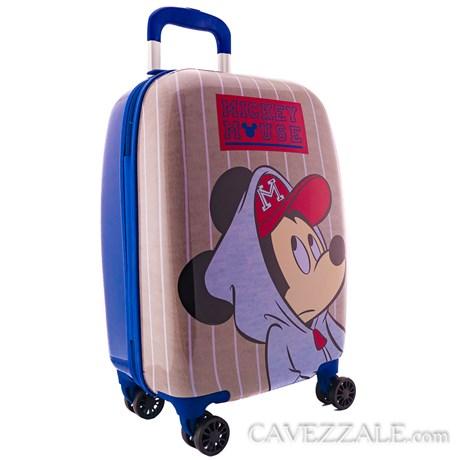 Mala de Bordo Mickey Mouse Azul Em Abs 0100658