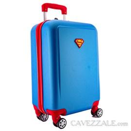 Mala de Bordo Super Man em ABS Azul 0101197