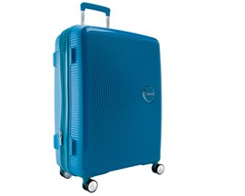 Mala De Viagem Grande Azul Curio American Tourister Em Polipropileno 099578