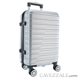 Mala de Viagem Média Prata ABS Cavezzale Turim 0101515