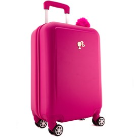 Mala De Viagem Pequena Barbie Rosa Em Abs 0100656