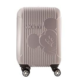 Mala De Viagem Pequena Polo King Mickey Mouse Prata Em Abs 100554