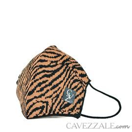 Máscara Anatômica Knit Cavezzale Animal Print Tigre 102136