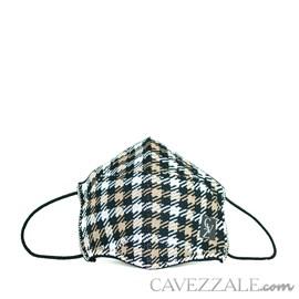 Máscara Anatômica Knit Cavezzale Xadrez 102136