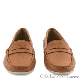 Mocassim Feminino de Couro Camel Cavezzale Premium 0101434