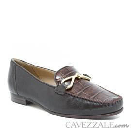 Mocassim Feminino de Couro Capuccino Cavezzale Premium 0101998