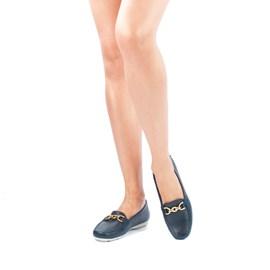 Mocassim Feminino de Couro Elba Blue Cavezzale Premium 0101436