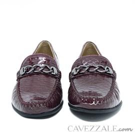 Mocassim Feminino de Couro Merlot Cavezzale Premium 0101997