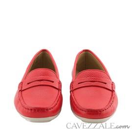 Mocassim Feminino de Couro Vermelho Cavezzale Premium 0101434