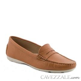 Mocassim Feminino em Couro Camel Cavezzale Premium 0101434