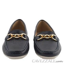 Mocassim Feminino em Couro Elba Blue Cavezzale Premium 0101436