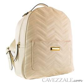 Mochila de Couro Feminina Cavezzale Off White 0100836