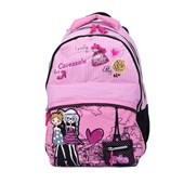 MOCHILA ESCOLAR CAVEZZALE PARIS LOVELY 055601 ROSA