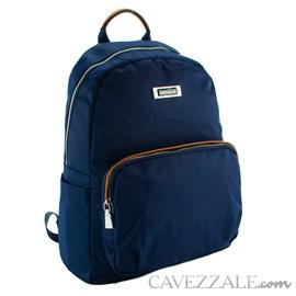 Mochila Feminina de Nylon Cavezzale Azul 101296