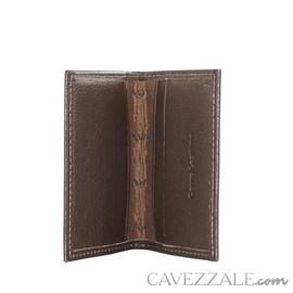 Porta Cartão Couro Médio Marrom Cavezzale 055885