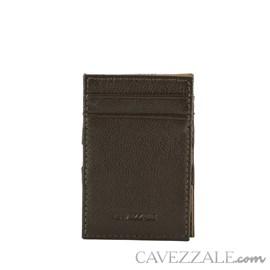 Porta Cartão Couro Médio Marrom Cavezzale 055886