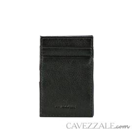 Porta Cartão Couro Médio Preto Cavezzale 055886