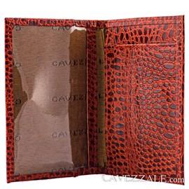 Porta Cartões de Couro Cavezzale 056401 Telha