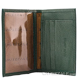 Porta Cartões de Couro Cavezzale 056401 Verde