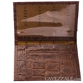 Porta Cartões De Couro Cavezzale Marrom 056401