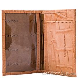 Porta Cartões de Couro Cavezzale Nude 056401