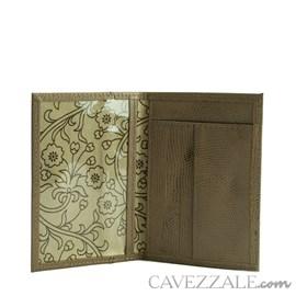 Porta Cartões de Couro Cavezzale Nude 56401