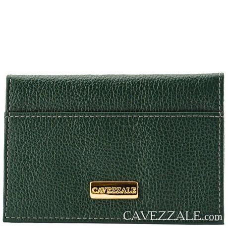 Porta Cartões de Couro Cavezzale Verde 056401