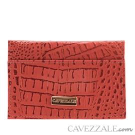 Porta Cartões De Couro Cavezzale Vermelho 056401