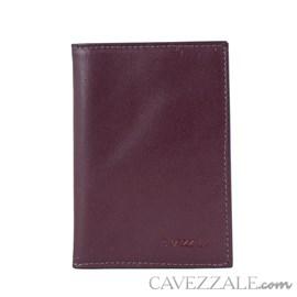 Porta Cartões de Couro Cavezzale Vinho 101130