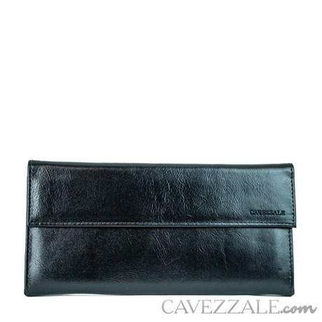 Porta Cheques Couro Cavezzale 015677 Preto
