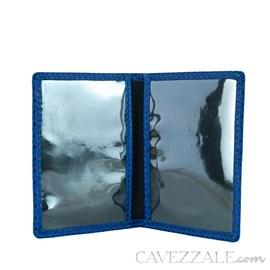 Porta Documentos de Couro Cavezzale Azul 100499