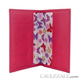 Porta Documentos de Couro Cavezzale Pink 101749