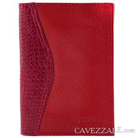 Porta documentos de Couro Cavezzale Vermelho 0101056