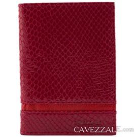 Porta documentos de Couro Cavezzale Vermelho 0101057