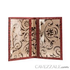Porta Documentos de Couro Croco Cavezzale Vermelho 101596